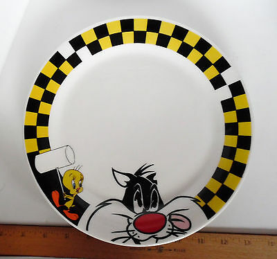 Sylvester And Tweety Bird Looney Tunes Plate By Gibson 2001