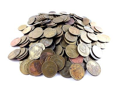 Lot Of 100 Soviet Russia 2 Ussr Kopek Coins 1961-1991 Cccp Communist Money