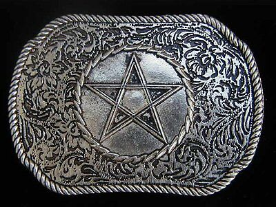 Western Style Pentacle Belt Buckle Larger Size Us Made New
