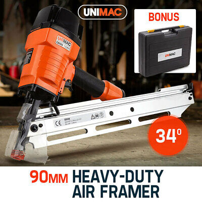 NEW UNIMAC Construction Framing Nail Gun - Heavy Duty Air Nailer Pneumatic