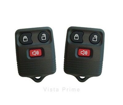 Ford Vehicles Replacement Three Button Keyless Entry Remotes, 2 Remotes  - Black