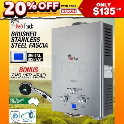 RED TRACK Gas Hot Water Heater - Portable Shower Camping LPG Outdoor Instant 4WD