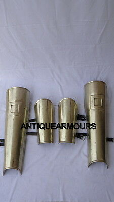 300 Greek Brass Antique Finish Arm & Leg Guard Set Replica Armoury Collection