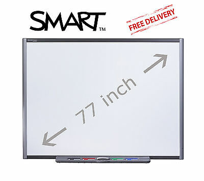 "Sb680 Smart Board 77"" Interactive Whiteboard 6 Month Warranty Pens Tray Bracket"