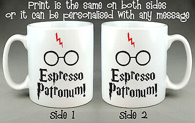 Espresso Patronum Harry Potter Funny Mug Cup 10 Oz Ceramic - Can be personalised