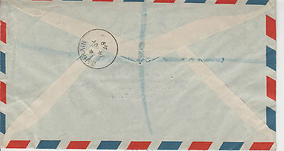 DBO125 1949 BAHRAIN GB Overprints Registered Commercial/12 As Airmail Rate Ldn