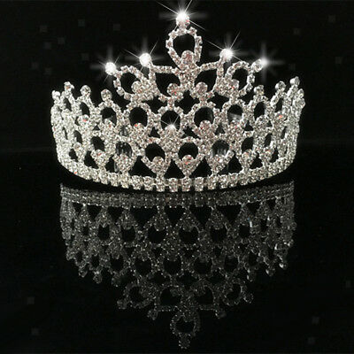 Bridal Rhinestone Crystal Headband Crown Tiara Wedding Prom Pageant Party