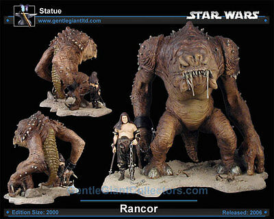 Gentle Giant Star Wars RANCOR & HANDLER Limited Edition Statue #1463/2000 New