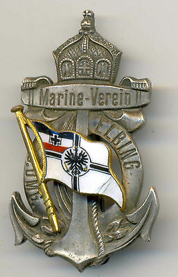 """German WWI Navy SMS """"Elbing"""" Former Russian Cruiser Admiral Nevelskoy Crew Badge"""