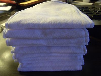6 pc MED/LG day time Reusable Cotton Diaper insert liner Birdseye Cloth w/ zorb