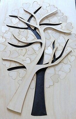 Wedding GuestBook Tree of Hearts, Alternative Guest Book fingerprint or signing