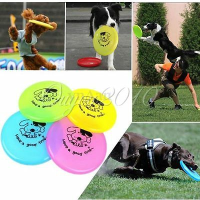 Nice Plastic Pet Toy Dog Training Flying Disc Saucer Frisbee Dish Plate Puppy
