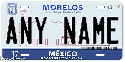 Tabasco Mexico Any Name Number Novelty Auto Car License Plate C01