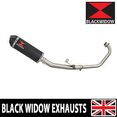 Cbr 125 Cbr125R 2011-2016 Exhaust System Black Stainless + Carbon Silencer 300Bt