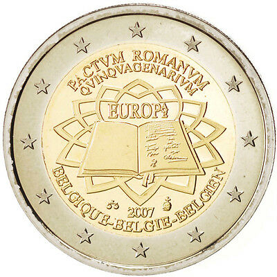 EUR, Belgium, 2 Euro Treaty of Rome 2007, Brussels, KM:247, MS(65-70) #93492