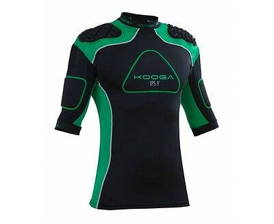 KOOGA IPS PRO V Mens Black Green Rugby Protection Body Armour Vest Top XXL BNWT
