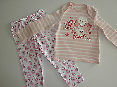 "DISNEY Really Cute ""101 Reasons to Love Me"" Little 101 Dalmatians PJ's NEW"