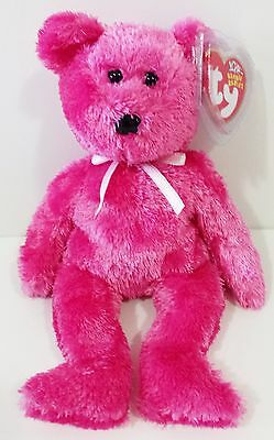 "TY Beanie Babies ""SHERBET"" the Raspberry Teddy Bear - New w/ Tags - MWMTs!"