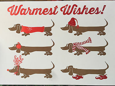 NIB Dachshund Wiener Dog Christmas Cards -- set of 12 -- Doxie/Dachsund