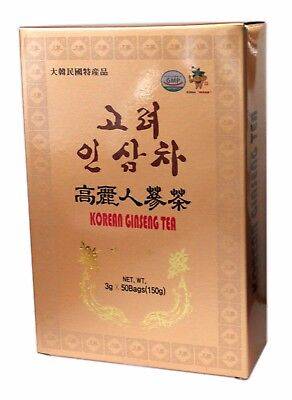 100% Authentic Korean Gold Instant Ginseng extract Tea 50 Sachets UK Seller