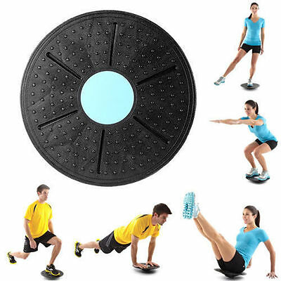 360° Rotation Wobble Balance Board Stability Disc Yoga Training Fitness Exercise