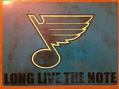 Tin Sign Vintage St Louis Blues Long Live The Note NHL