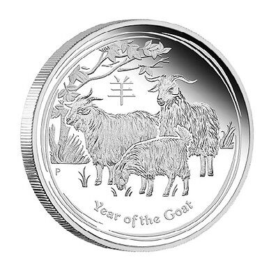 Silver Lunar Year of the Goat Coin Birthday Anniversary Novelty Gift