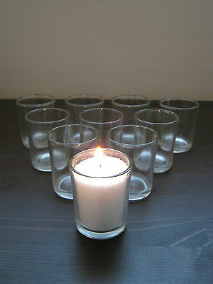 12Pk Clear Glass Votive Tea Light Candle Holders Wedding Party Gift Idea.