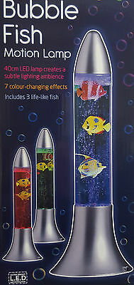 A Brand New Colour Changing Bubble Fish Motion Lamp