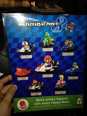 2015 Super Mario Kart 8 Piece Set Mcdonald's Happy Meal Asia Rare