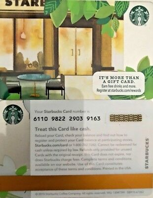 """New 2015 Starbucks """"store Front Door"""" Gift Card No Value Limited Edition Mint"""