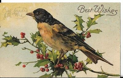 early christmas card 1908 best wishes