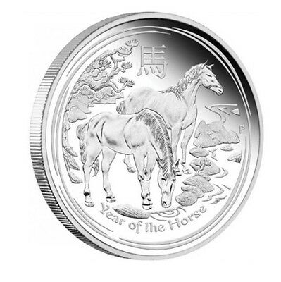 Silver Lunar Year of the Horse Coin Birthday Anniversary Novelty Gift
