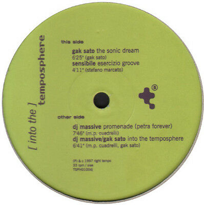 VARIOUS (GAK SATO / SENSITIVE / DJ MASSIVE) - Into The Temposphere - TEMPOSPHERE