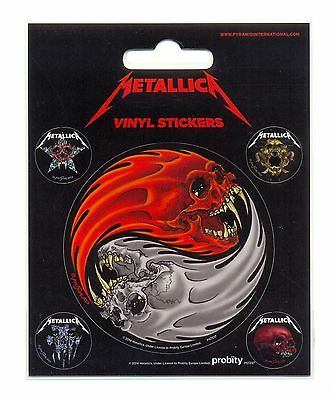 Metallica Yin & Yang Skulls Pushead Vinyl Stickers Official Carded