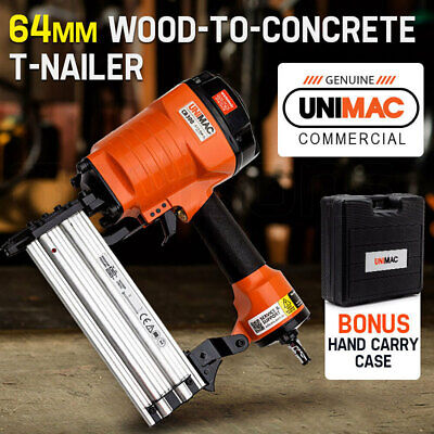 NEW UNIMAC T-Nailer Finish Wood-to-Concrete Nailer Finishing Air Nail Gun Steel
