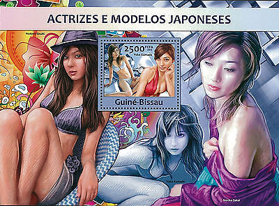 Guinea Bissau 2013 Stamp, GB13105B Japanese Actress Models, Famous People S/S