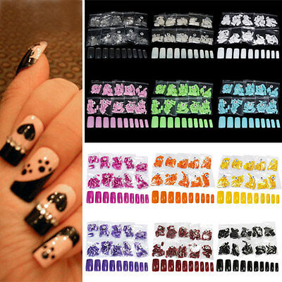 500Pcs Tips False Full French Acrylic Gel Artificial Tools Manicure Nail Art RD