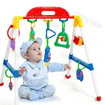 Home Colored Music BABY GYM & PLAY TRAINER Kid Playmat Toy Activity Motion Play