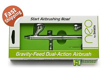 Neo For Iwata Cn 0 35Mm Dual Action Gravity Feed Airbrush Art Spray Paint Photo