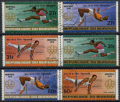 Burundi 1976 SG#1134-9 Olympic Games Air Used Set #D2421