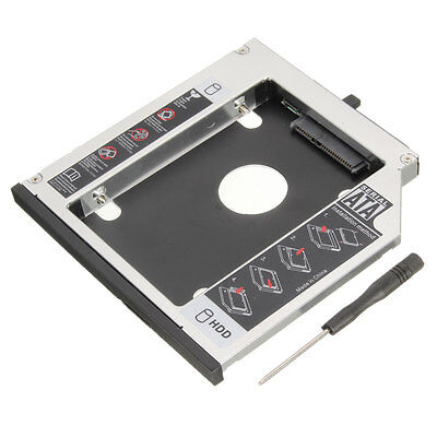 12.7mm 2nd Caddie Support Rack Disque Dur HDD SSD SATA pour IBM Lenovo CD-ROM PC
