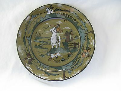 Excellent 1908 Buffalo Pottery Deldare The Fallowfield Hunt Breaking Cover Plate