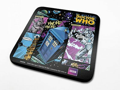 OFFICIAL Dr / Doctor Who (Comic Strip) COASTER / DRINKS MAT BY PYRAMID CS00157