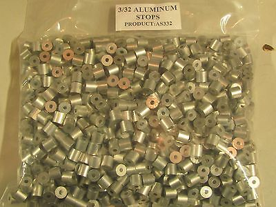 200 pack of 3/32 Aluminum Cable Stops Sleeves Traps Trapping Snares