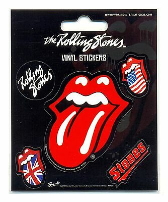 The Rolling Stones Tongue Vinyl Stickers Official Carded