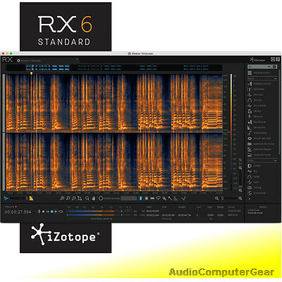 iZotope RX 6 AUDIO EDITOR Repair Restore EDU Software Plug-in NEW