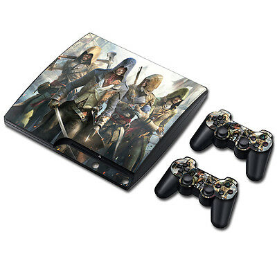 Skin Sticker Vinyl Decal Cover For PS3 PlayStation 3 Slim+2 Controllers TNS3081#