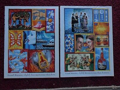Lot of 16 Diff GRAND MARNIER Liqueur Print Ads ~ Less Mysterious Surreal ART +++