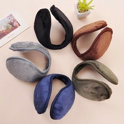 Women Men Winter Warm Fleece Ear Muffs Plush Ear Warmer Ear Cap Earlap Wrap